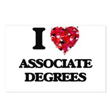 I Love Associate Degrees Postcards (Package of 8)