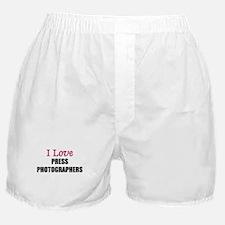 I Love PRESS PHOTOGRAPHERS Boxer Shorts
