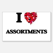 I Love Assortments Decal