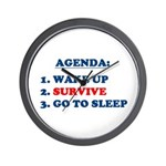 AGENDA TO SURVIVE Wall Clock