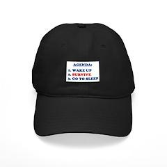 AGENDA TO SURVIVE Baseball Hat