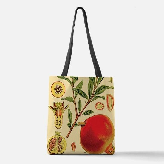 Vintage Pomegranate Polyester Tote Bag