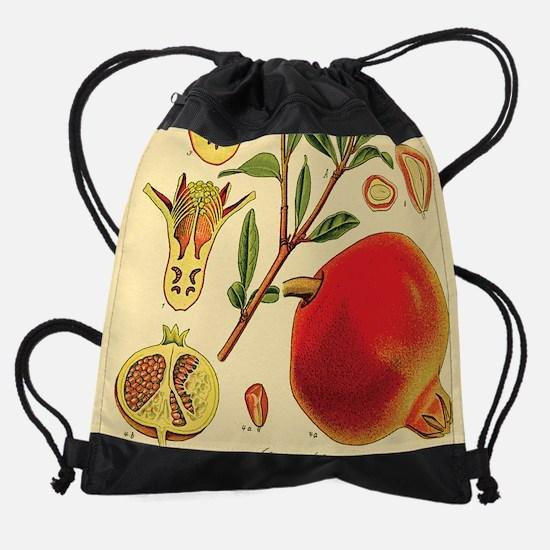 Vintage Pomegranate Drawstring Bag
