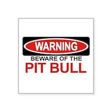 """Unique Pit bull dog Square Sticker 3"""" x 3"""""""