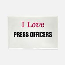 I Love PRESS OFFICERS Rectangle Magnet