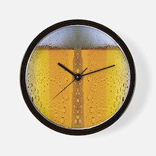 Oktoberfest Foaming Beer Wall Clock