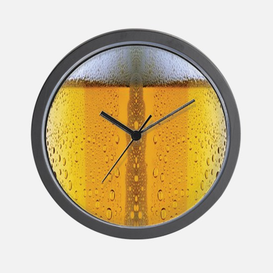 Oktoberfest Foaming Beer Wall Clock