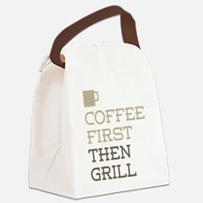 Coffee Then Grill Canvas Lunch Bag