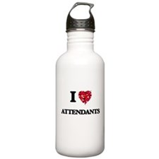 I Love Attendants Water Bottle