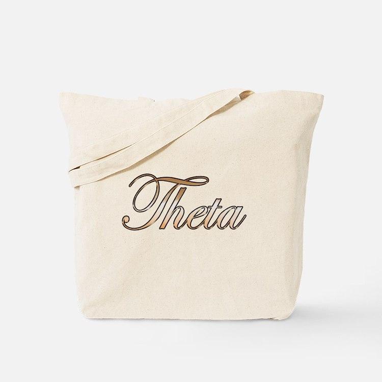 Gold Theta Tote Bag