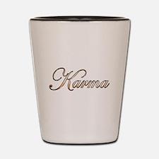 Gold Karma Shot Glass