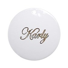 Gold Karly Round Ornament