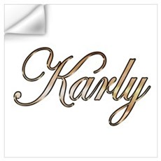 Gold Karly Wall Decal