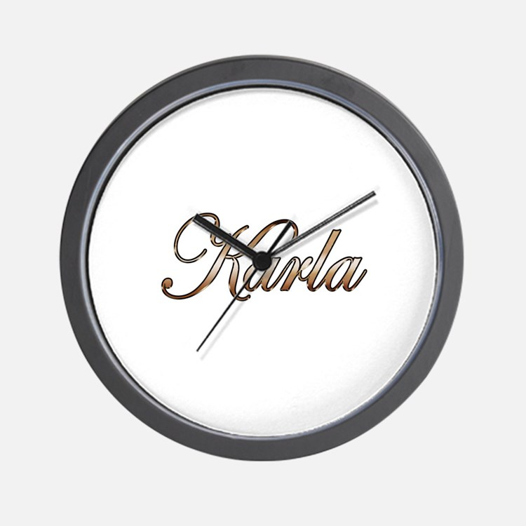 Gold Karla Wall Clock