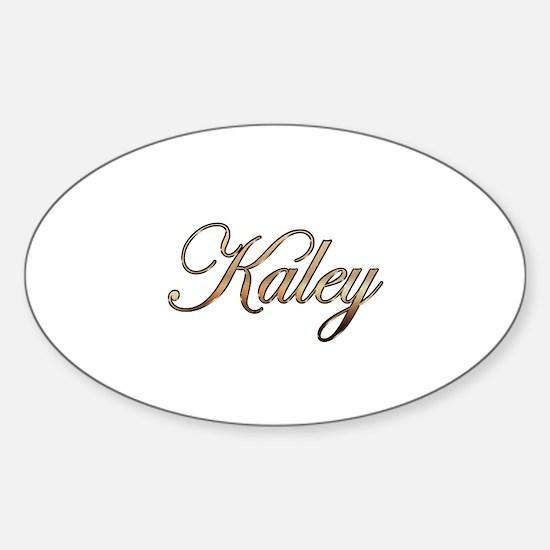 Gold Kaley Sticker (Oval)