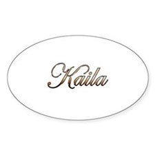 Gold Kaila Decal