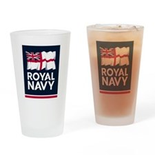Royal Navy Drinking Glass