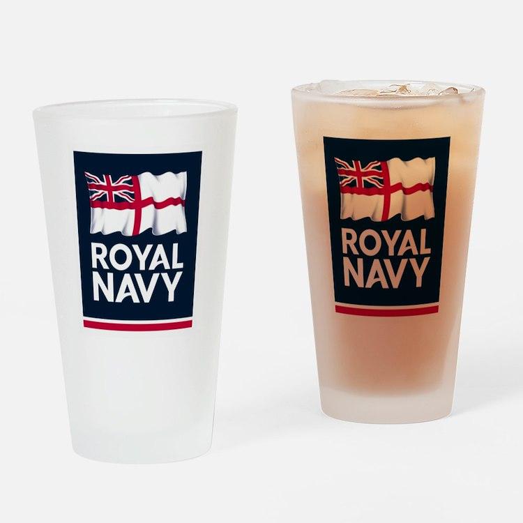 Royal Navy Drinking Glass