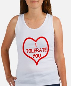 I tolerate you Women's Tank Top