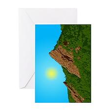 Obfg Boulder Flatirons Art Greeting Cards