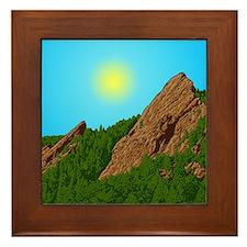 Obfg Boulder Flatirons Art Framed Tile