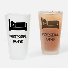 Professional Napper Drinking Glass