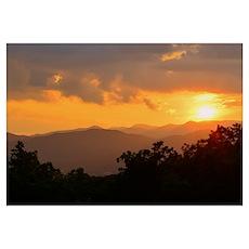 Pisgah Forest Sunset Poster