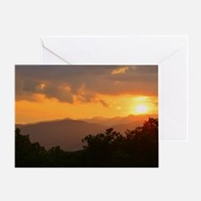Pisgah Forest Sunset Greeting Card