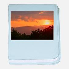 Pisgah Forest Sunset baby blanket