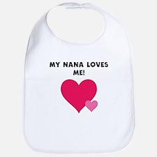 My Nana Loves Me Bib
