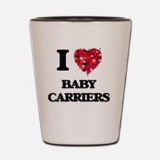 I Love Baby Carriers Shot Glass
