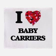I Love Baby Carriers Throw Blanket