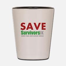 Save Survivors UK Shot Glass