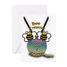 Bee a Knitter Greeting Cards (Pk of 20)