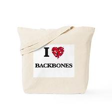 I Love Backbones Tote Bag