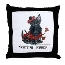Celtic Scottish Terrier Throw Pillow