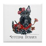 Scottish terrier Tile Coasters