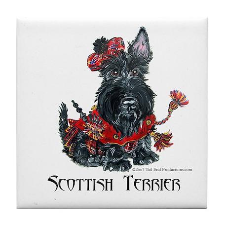 Celtic Scottish Terrier Tile Coaster