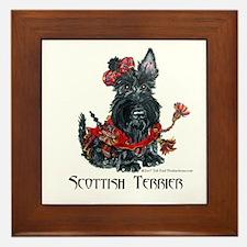 Celtic Scottish Terrier Framed Tile