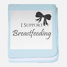 I support Breastfeeding Girls Onesie baby blanket