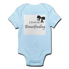 I support Breastfeeding Girls Onesie Body Suit