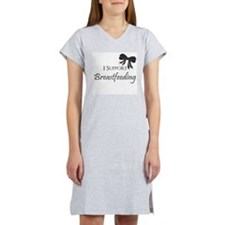 I support Breastfeeding Girls O Women's Nightshirt