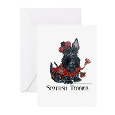 Celtic Scottish Terrier Greeting Cards (Pk of 10)