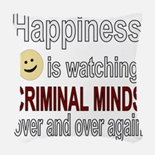 Happiness is watching CRIMINAL Woven Throw Pillow