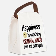 Happiness is watching CRIMINAL MI Canvas Lunch Bag