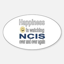 Happiness is Watching NCIS Sticker (Oval)