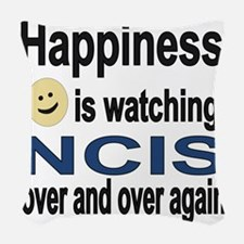 Happiness is Watching NCIS Woven Throw Pillow
