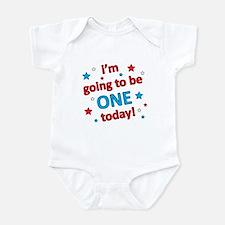Patriotic 1st Birthday Infant Bodysuit