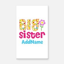 Big Sister Pink Teal Floral P Rectangle Car Magnet