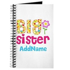 Big Sister Pink Teal Floral Personalized Journal